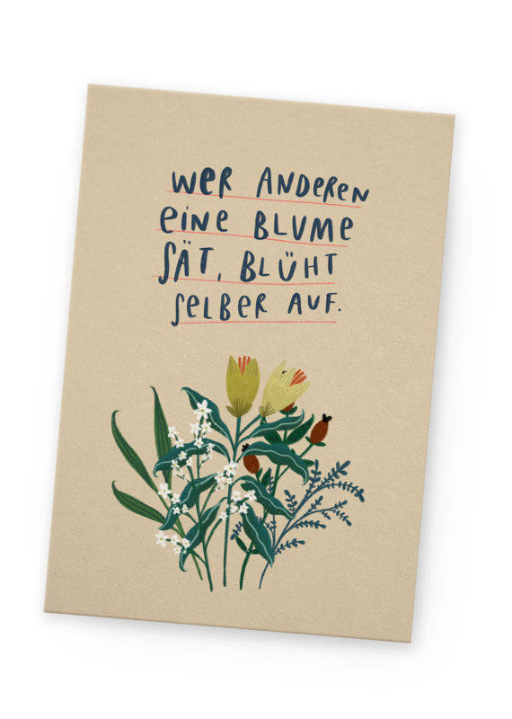 franzizo Postkarte »Aufblühen«