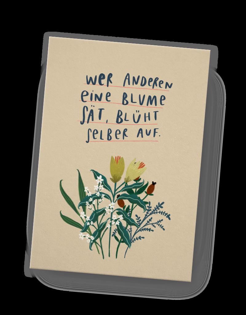 franzizo Postkarte »Aufblühen« aus Recyclingpapier