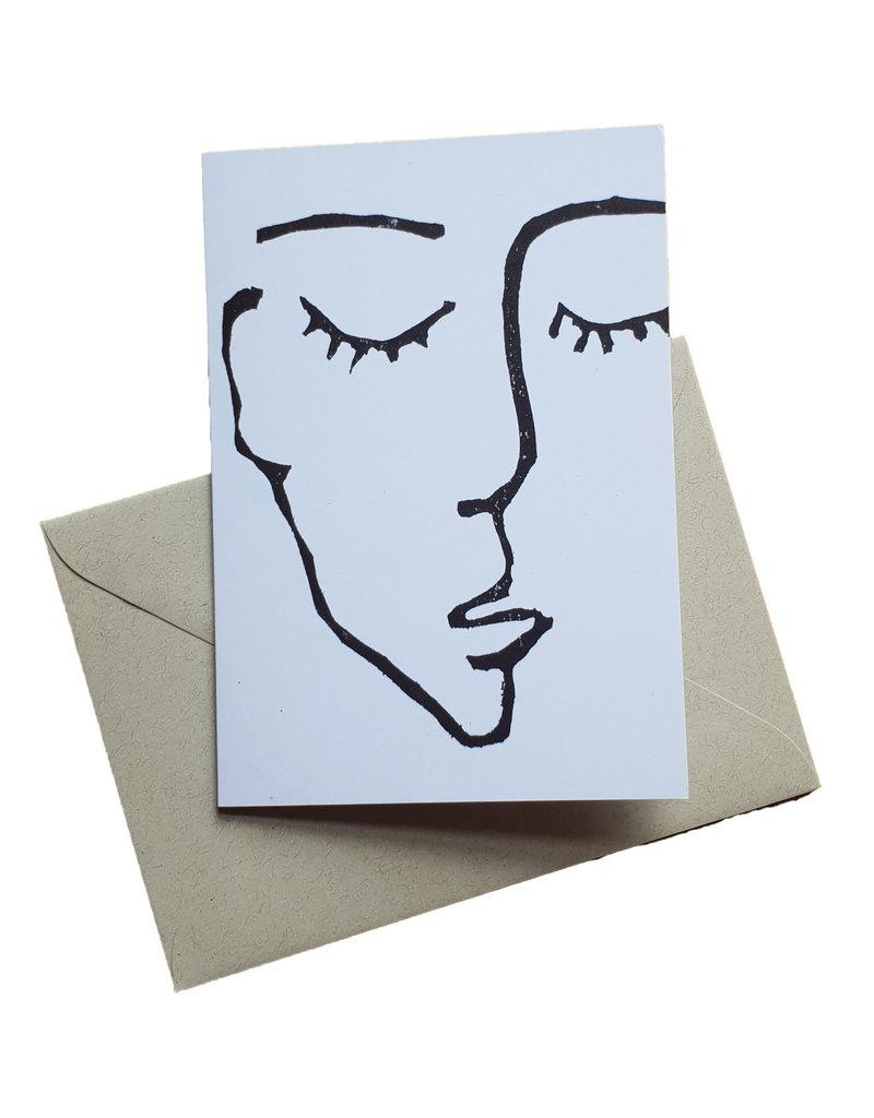 s a t t v a108 Faltkarte mit Naturpapier Kuvert - Sattva