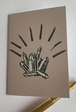 s a t t v a108 Faltkarte mit Naturpapier Kuvert - Kristall