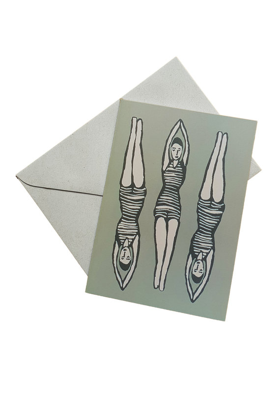 s a t t v a108 Faltkarte mit Naturpapier Kuvert - Im Fluss