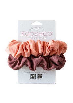 KOOSHOO Plastikfreie Scrunchies 2-er Pack / coral-rose