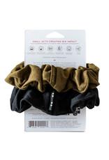 KOOSHOO Plastikfreie Scrunchies 2-er Pack /  schwarz-olive