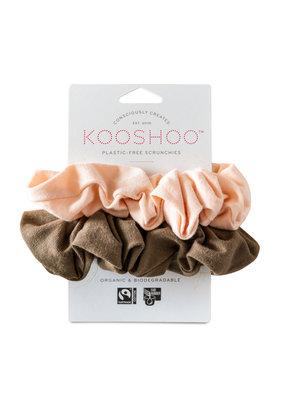 KOOSHOO Plastikfreie Scrunchies 2-er Pack / nude-walnuss