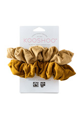 KOOSHOO Plastikfreie Scrunchies 2-er Pack / gold-sand