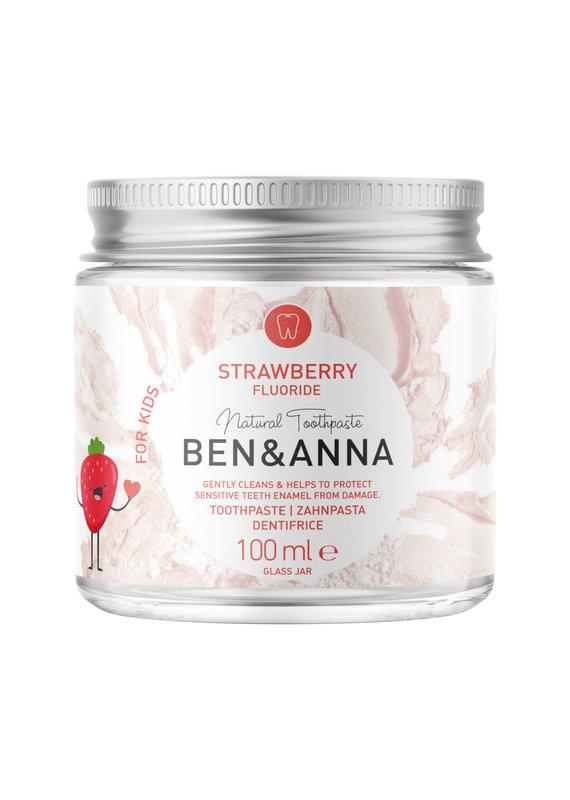 Ben & Anna Kinder Zahncreme – Erdbeere mit Fluorid