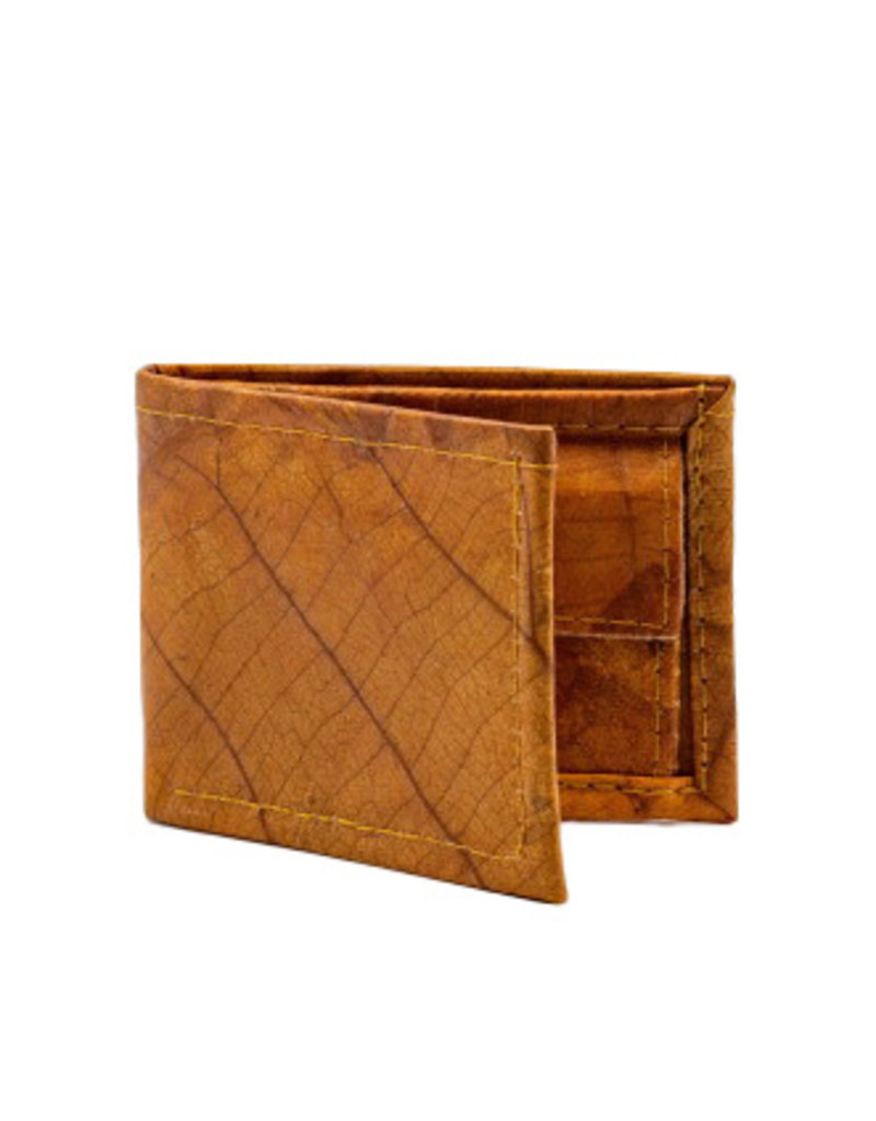 Mr. Leaf Brieftasche aus Teakblättern / hellbraun