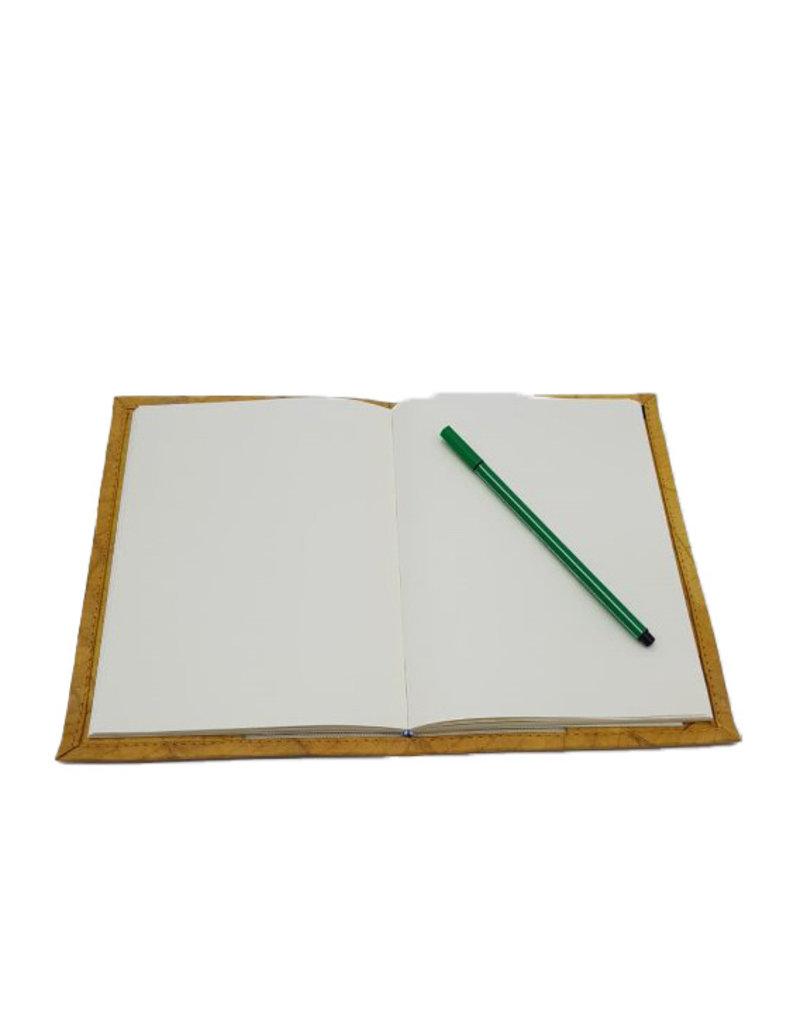 Mr. Leaf Notizbuch A5 aus Teakblättern / gelb