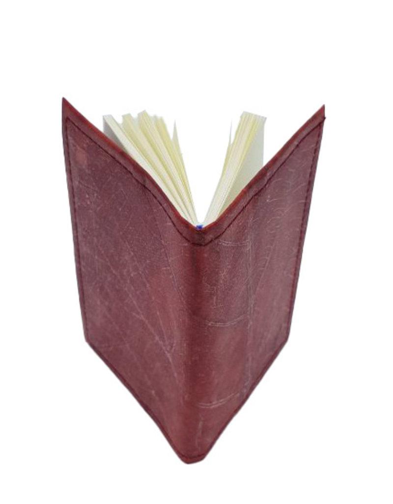 Mr. Leaf Notizbuch A6 aus Teakblättern / rot