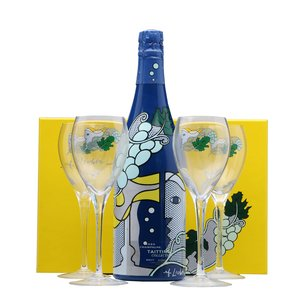 Taittinger Collection 1985 (with 4 glasses) set collection