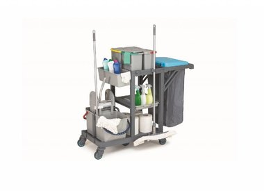 Cleaning, linen and mop trolleys