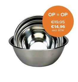Stainless steel mixing bowl 12 Liter