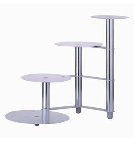 Schneider Aluminium wedding cake stand, 4 pieces