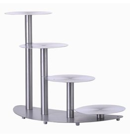 Schneider Stainless steel wedding cake stand, 4 layers