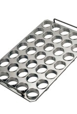 Baking tray with rings 75 x 25
