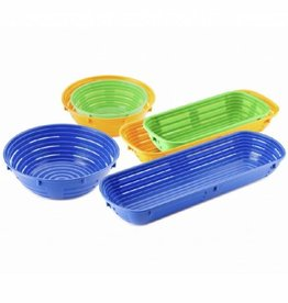 Plastic rising basket round, 1000 grams