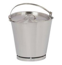 Stainless steel bucket, 15 Liters
