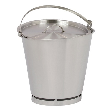 Edelstahl Eimer, 15 Liter