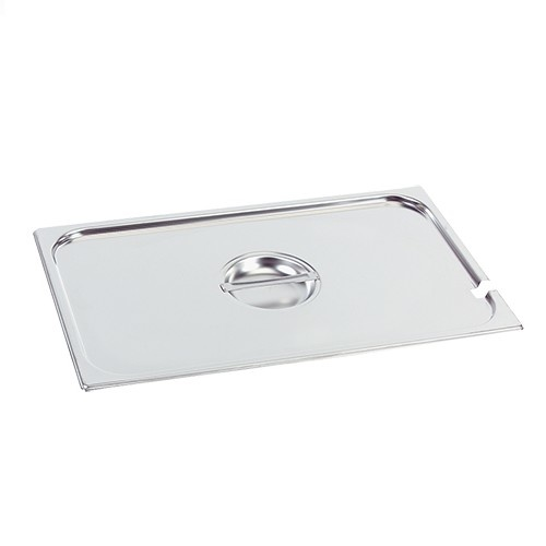 Gastronorm stainless steel lid 1/6 GN with spoon recess