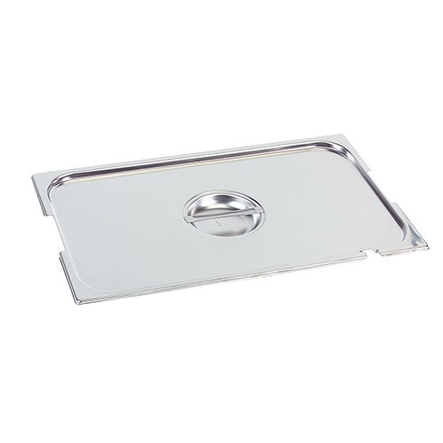 Gastronorm stainless steel lid1/6 GN with spoon-and grip recess