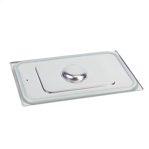 Gastronorm stainless steel lid 2/3 GN with siliconized rims