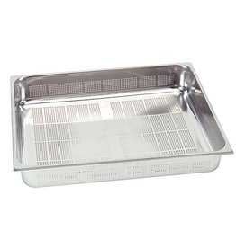 Perforated gastronorm container, GN 2/1 x 65(h) mm