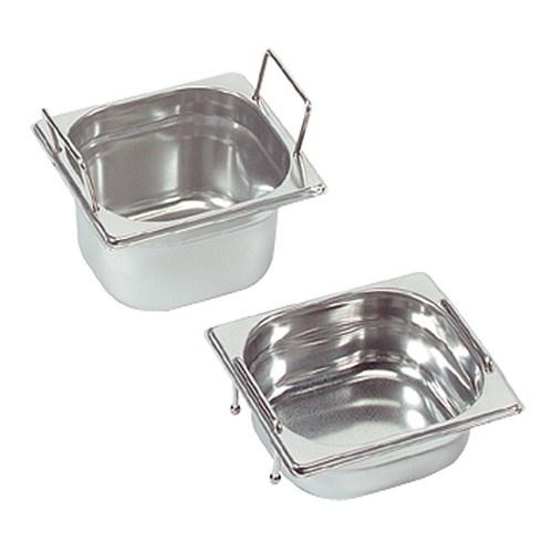 Gastronorm-Behälter mit versenkbaren Griffen, GN 1/6 x 100(h) mm