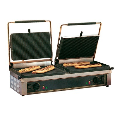 Roller Grill Roller Grill Contact Grill, Double Panini
