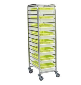 Scaritech Drip trays cart stainless steel