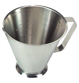 Stainless steel measure jug, 0.5 liter