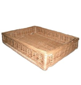 Display wicker basket 60 x 40 x 10 cm