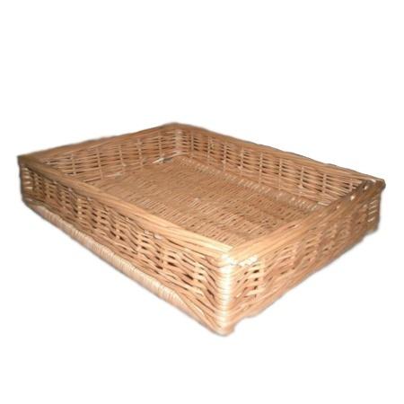 Display wicker basket 60 x 40 x 10 cm
