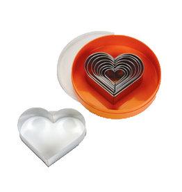 Schneider Set of pastry cutters heart, plain