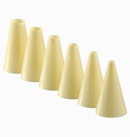Schneider Set plastic tubes plain, 6 pcs in blister pack
