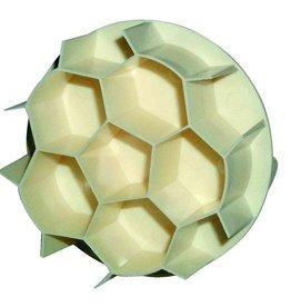 Soccer ball dough press roll