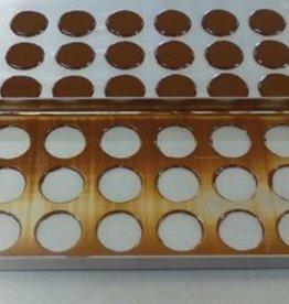 Schokolade Tablett 24 Formen (3 x 8)