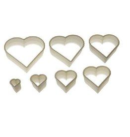 Silikomart Pastry cutters set heart, 7-piece (plain)