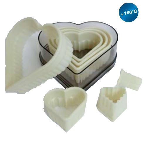 Silikomart Ausstechersätze Herz, 7-teilig (gezackt)