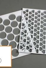 Schneider Plastic heart shaped cutting sheet, with 116 shapes (mat)