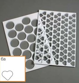 Schneider Plastic heart shaped cutting sheet, with 116 shapes (mat)
