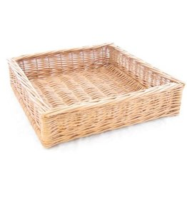 Display wicker basket 40 x 40 x 10 cm