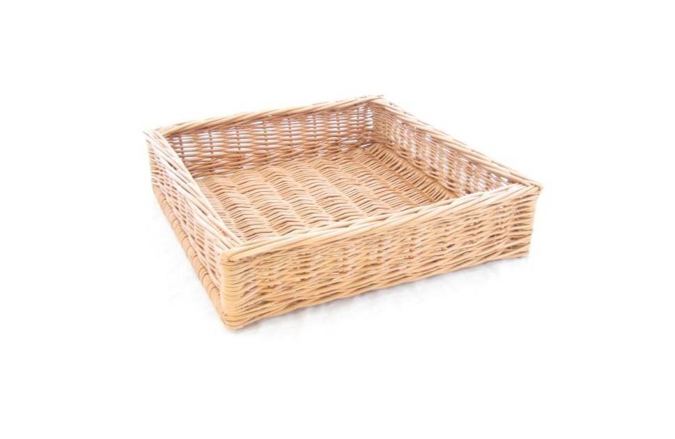 Display wicker basket 40 x 40 x 10 cm