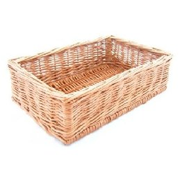 Display wicker basket 40 x 30 x 10 cm
