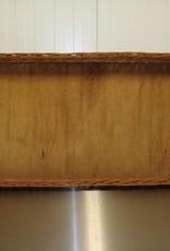 100 x 48 x 10 cm wicker basket with wooden base