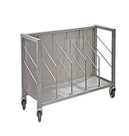 Stainless steel bag trolley