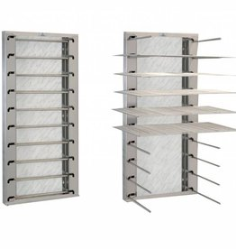 Stainless steel plate rack wall model