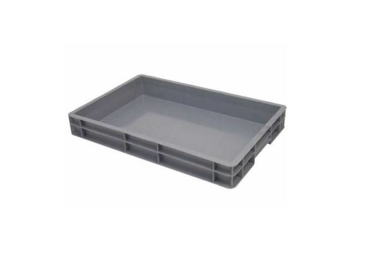 Kunststof krat 600x400x120(h) mm, gesloten
