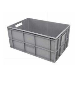 Plastic crate 600x400x320 (h) mm, open handles