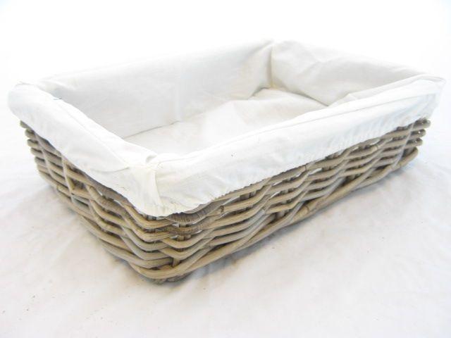 Korb Artisan mit Stoff 40 x 30