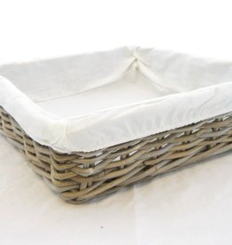 Korb Artisan mit Stoff 40 x 40